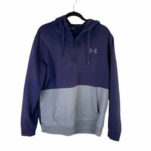UNDER ARMOUR fitted blue & gray hoodie men's XL